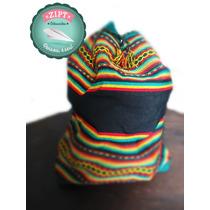 Mochila Peruana, Andina - Cores Reggae   Rastafari - Grande
