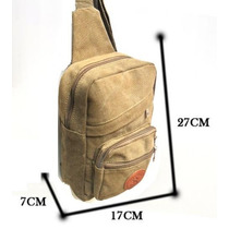 Bolsa Pochete Transversal Lona Compartimento Celular Tablet
