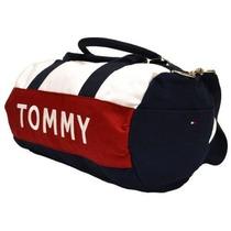 Bolsa Tommy Hilfiger Azul, Vermelha E Branca Original Duffle