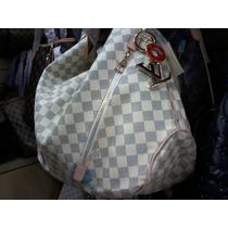 Bolsa Louis Vuitton Delightfull Ebene Azur Branca - Nova !!