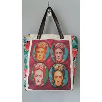 Bolsa Frida Kahlo Alças De Couro Linda!!