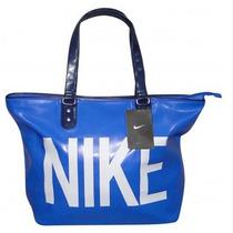Linda Bolsa Nike Heritage Azul Couro Sintético Pronta Entreg