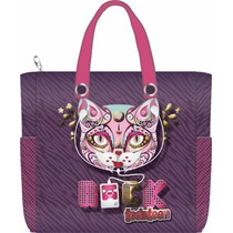Bolsa Shopping Toda Teen Gata Fashion Porta Caderno