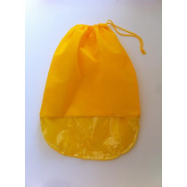 Saco Para Sapatos Em Tnt Amarelo C/ Visor Plástico - Kit 50u
