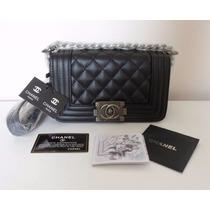 Chanel Le Boy 25 Cm Ferragens Envelhecida Original C/ Caixa