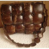 Bolsa De Mão Happy Feita De Côco Artezanalmente (a2)
