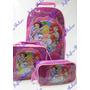 Mochila Escolar Rodinha Conjunto Lanch Kit Princesas Grande