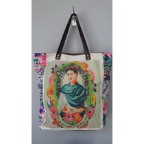 Bolsa Frida Kahlo Alça De Couro Linda
