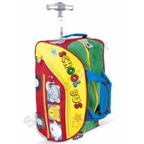 Bolsa De Criança Para Viagem Colorida Menino Com Rodas Alça