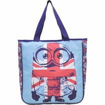 Bolsa Shopping Bag/tote Minions Flag Azul
