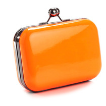 Clutch Candy Eco Couro Laranja Neon