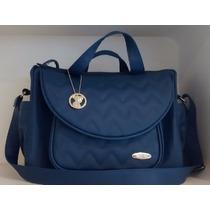 Bolsa Golden Grande Classic For Baby Bags - Azul Marinho