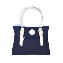 Bolsa Feminina Em Couro Sintetico Barata Azul