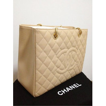 Bolsa Chanel Shopper Original Em Couro Gst100% Original