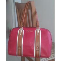 Bolsa Feminina Veryrio Vermelha - Bag - Couro Ecológico