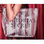 Victoria Secret Bolsa Tote Prata E Rosa Paetes Black Friday