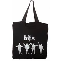 Bolsa Temática The Beatles Rock Tecido Preto Sacola Pano