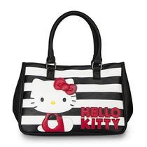 Sacola Hello Kitty Stripes Black & White W / Red Santb1341