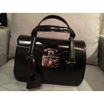 Bolsa De Couro Preta Gucci Original!!!!