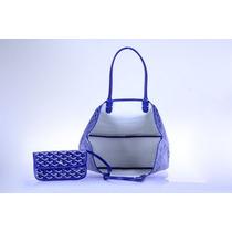 Bolsa Importada Goyard, Azul Royal, Amarelo Ou Coral