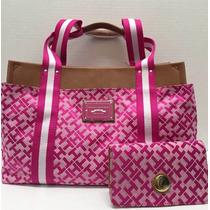 Bolsa Tommy Hilfiger Feminina Rosa Pink Logo Original