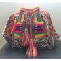 Bolsa Wayuu Colombiana Colorida Bordada