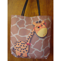 Bolsa Feminina Shopper Girafa