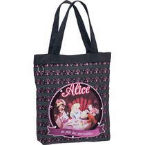 Bolsa Shopping Bag/tote Alice In The Book Gd C/ziper Pacific