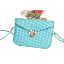 Bolsa/bolsinha Transversal Pequena/azul Tiffany-p/ Entrega
