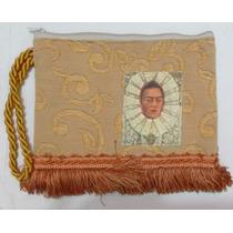 Bolsa Tipo Carteira Frida Kahlo Com Franjas