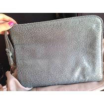 Bolsa Feminina Cinza/ Porta Mini Ipad -liquidação Seminova