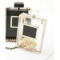 Bolsa Clutch Transparente Perfume Cc Importada Lindíssima!