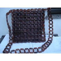Bolsa Artesanal C/ Forro Em Tecido/ C/ Ziper