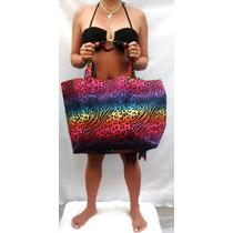 Bolsa Sacola Estampada De Praia\piscina Grande Moda Verão