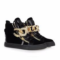 Sneaker Giuseppe Zanotti Preto - Tênis Kanye West Will.i.am