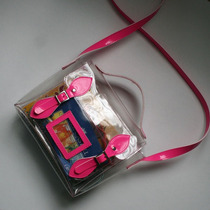 Bolsa Feminina Satchel Transparente Moda Itbag Vintage Retrô