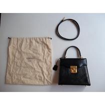 Bolsa Em Couro Preta Victor Hugo Dusty Bag Vintage Original