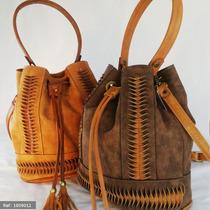 Bolsa Feminina Em Couro Tipo Saco Franja Luxo Moda +barata