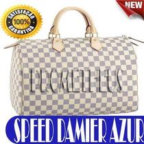 Bolsa Importada Damier Azur - Couro Legitimo