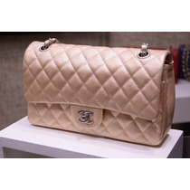 Chanel 2.55 Dourada Caviar Double Flap 100% Original