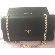 Linda Bolsa/clutch Prada. Couro Original. Frete Grátis.