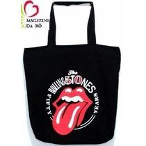 Bolsa Lingua Boca Rolling Stones Grande Passeio Escolar