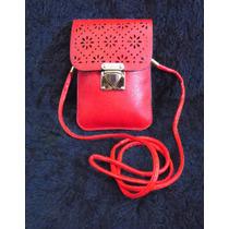 Bolsa Lateral Feminina Vermelha Pequena Transversal