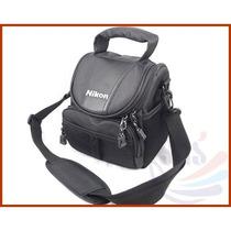 Bolsa Case Câmera Nikon Linha L, P, D, Dslr E Outras