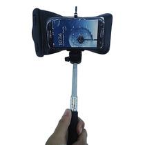 Selfie Monopod Bastão Smarphone + Capa Estanque Prova Água