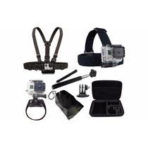 Kit Acessórios Gopro Hero Sj4000 Conjunto Com 7 Peças