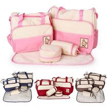 Kit Bolsa Maternidade Bebê 5 Peças Várias Cores