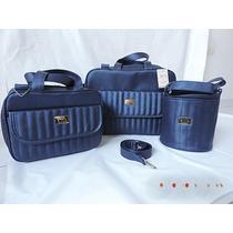Kit Bolsa Maternidade Luxo - 3 Pçs. Pronta Entrega