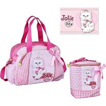 Kit Maternidade Jolie E Jolie Pet Bolsa Porta Mamadeira Rosa