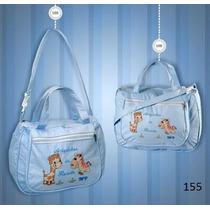 Kit Com Bolsa E Frasqueira Bebê Maternidade